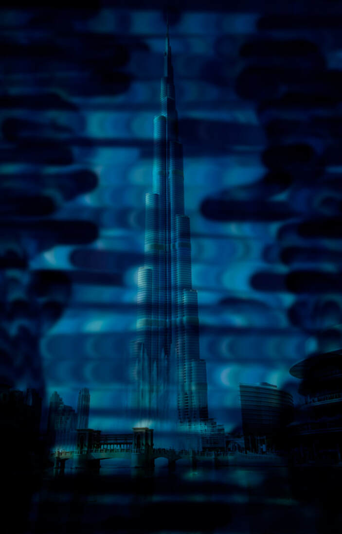 Night Sky Edit Burj Khalifa